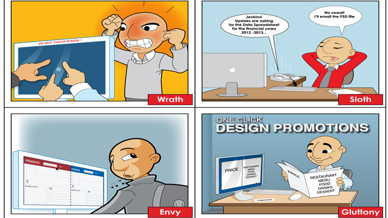 Comic #8: 7 Sins of a Web Designer