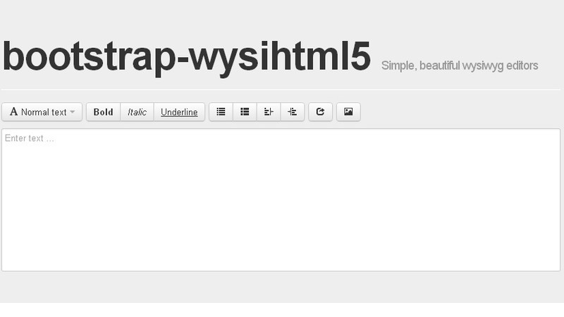 Bootstrap Wysihtml5