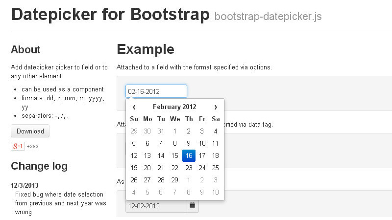 Bootstrap-Datepicker