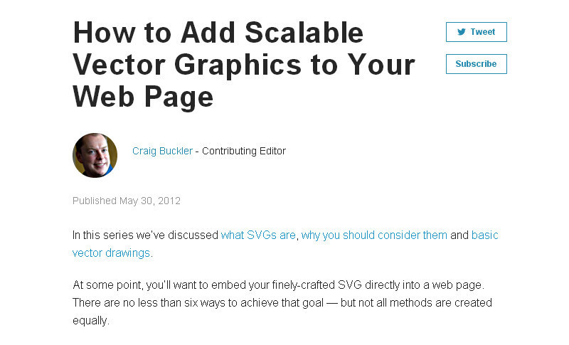 How to Add Scalable Vector Graphics to Your Web Page