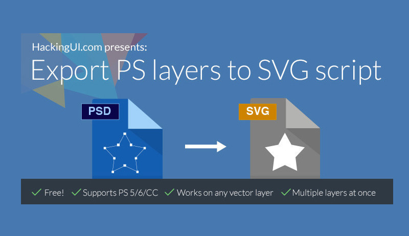 Export from Photoshop to SVG