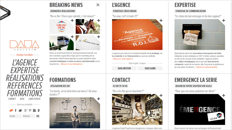 The More Better Great Multi Column Layout Websites