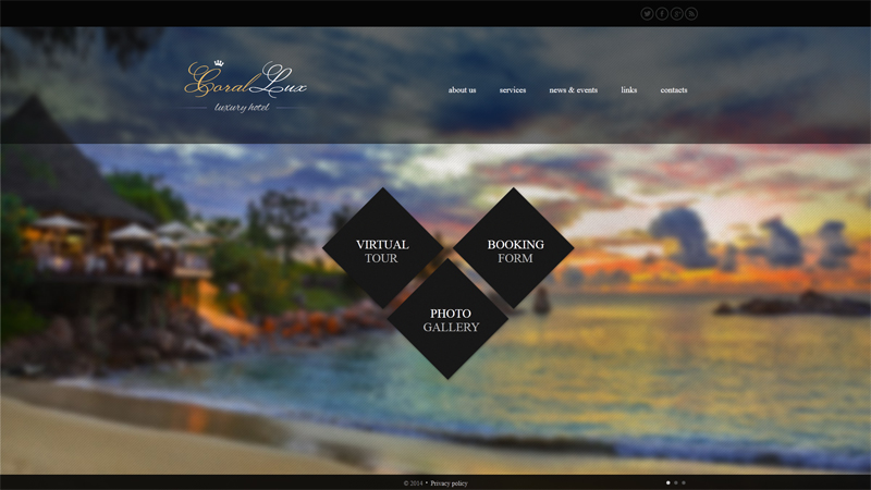 Fabulous website designs for hotels for Hotel web design