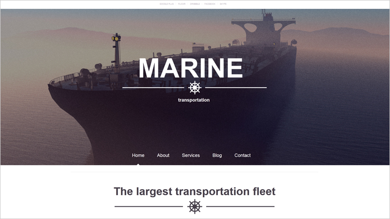 Marine Transportation Website Template