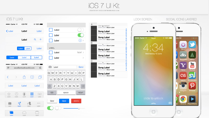 iOS7 UI Kit