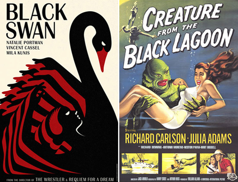 Black Swan/Creature from the Black Lagoon