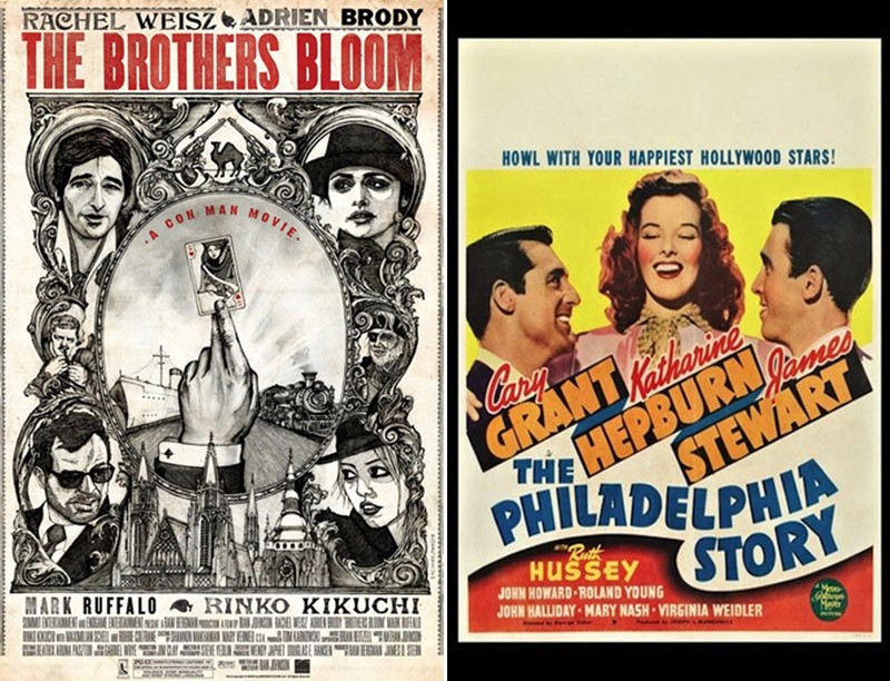 The Brothers Bloom/The Philadelphia Story