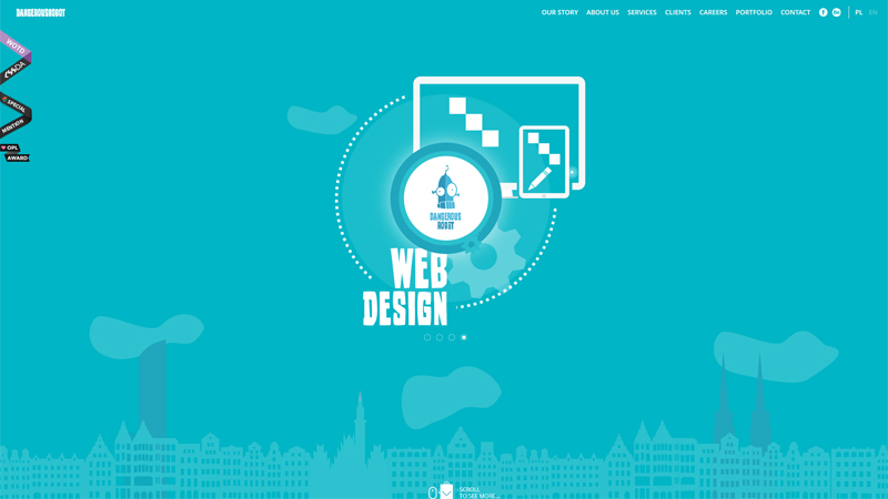 DangerousRobot Web Design