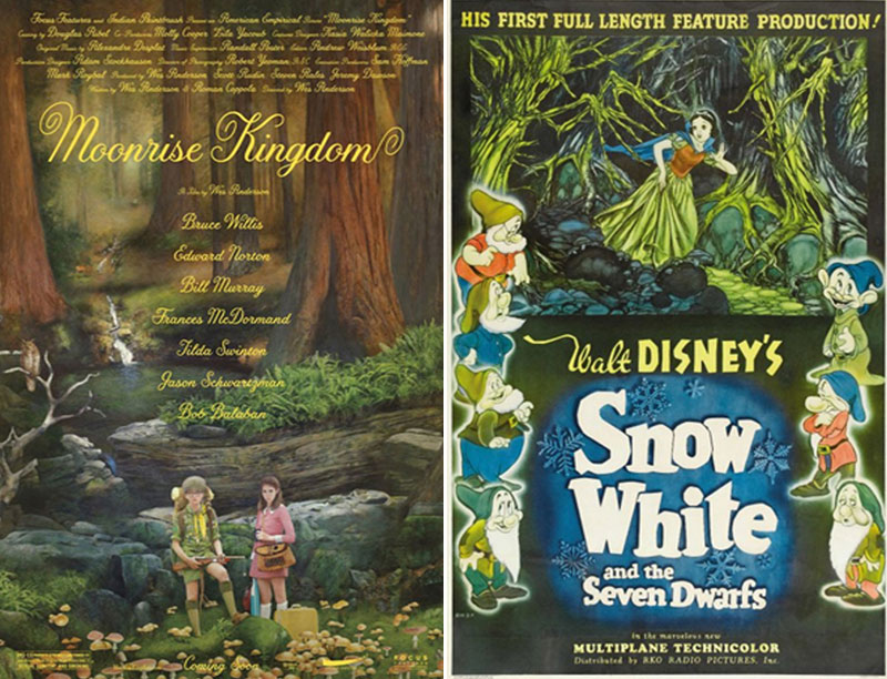 Moonrise Kingdom/Snow White and the Seven Dwarves