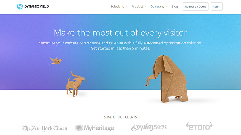 dynamic yield - Great Website Design Ideas