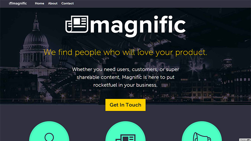 magnific - Church Website Design Ideas