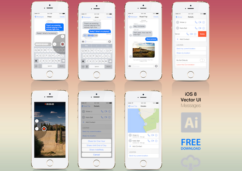 iOS8 Messages UI