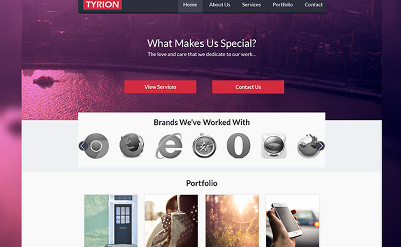 Tyrion Free PSD Website Template