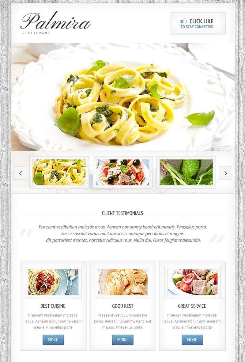 Cafe and Restaurant Facebook Template