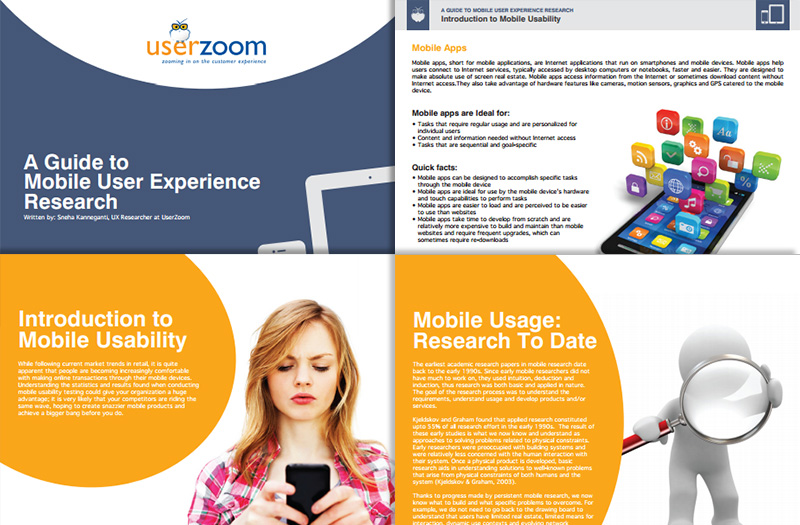 A Guide to Mobile User Experience Research