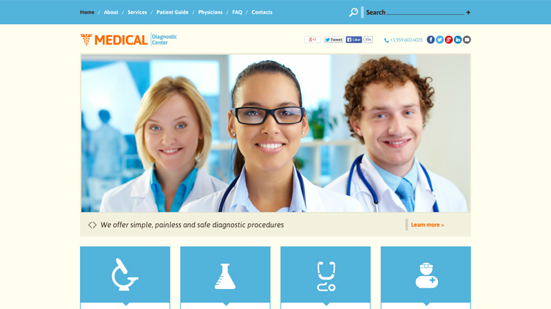 why are medical websites usually white and blue?, Skeleton