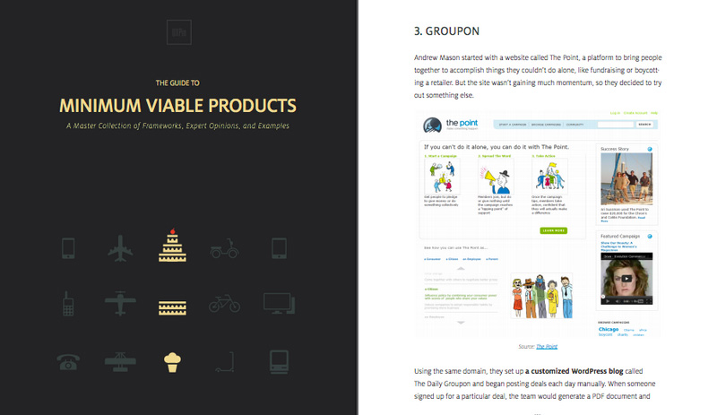 The Guide to Minimum Viable Products