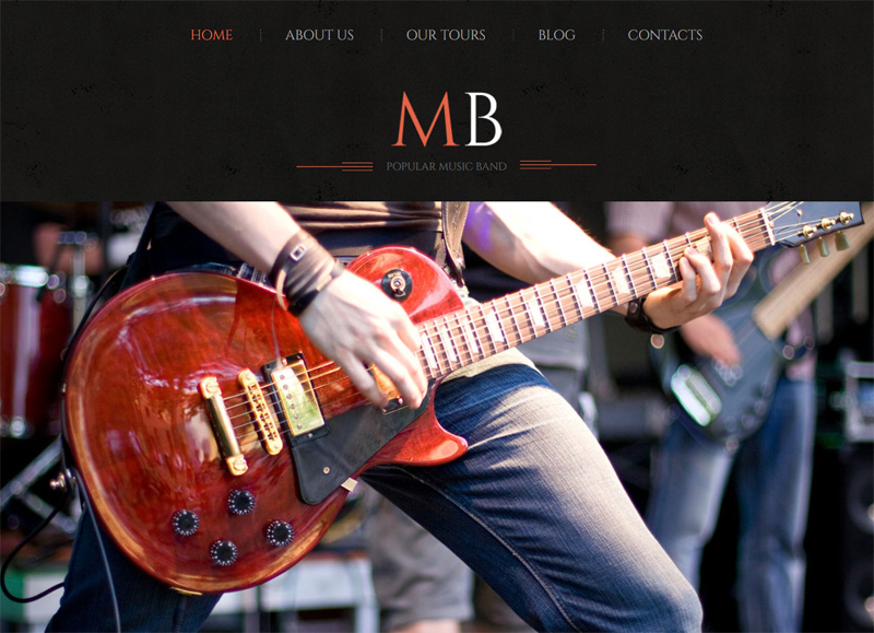 Dark Theme for a Band