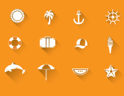 Freebie: Vacation Vector Icons Set For The Holidays