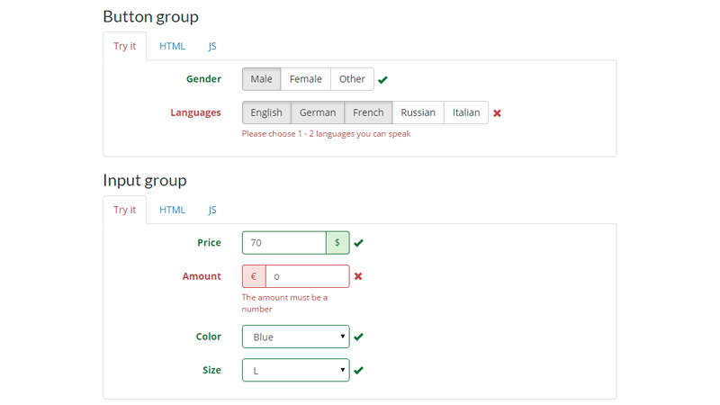 JQuery and Bootstrap-ready Plugin to Validate Form Fields
