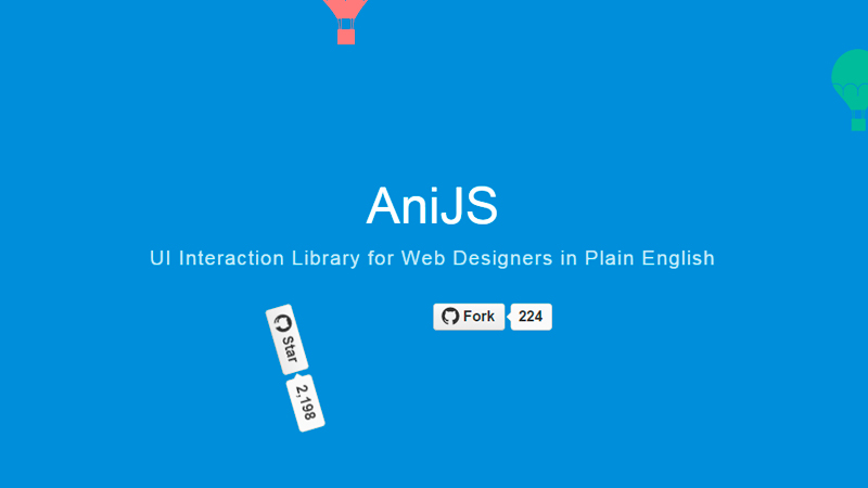 AniJS UI Interaction Library for Web Designers