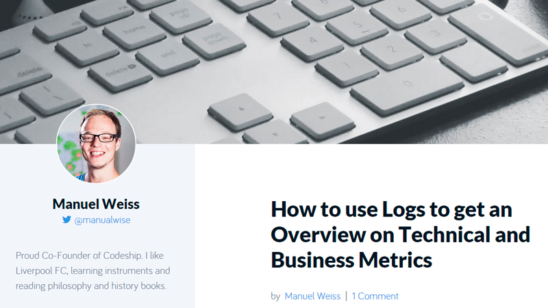 How to Use Logs to Get an Overview on Technical and Business Metrics