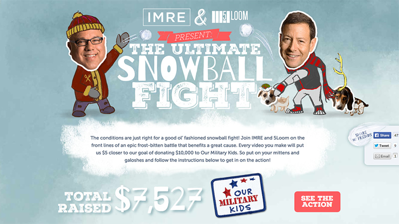 IMRE & 5Loom present The Great Snowball Fight