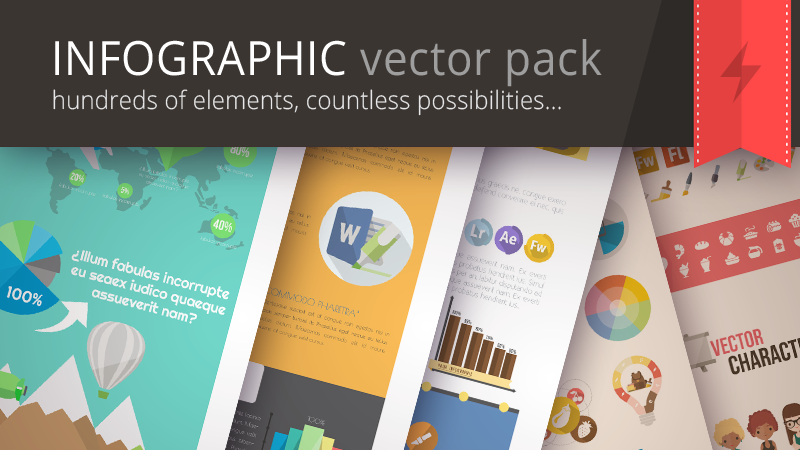 Huge Infographic Vector Pack
