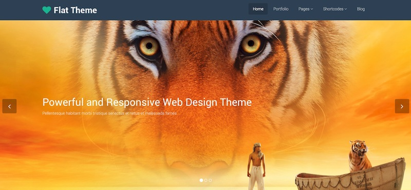 WordPress Flat Theme