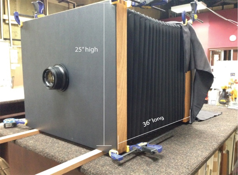 The world's largest wet plate camera