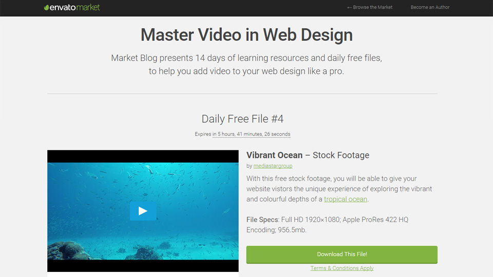 Mastering the Art of Video Backgrounds in Web Design: Two Weeks of Free Files & Resources