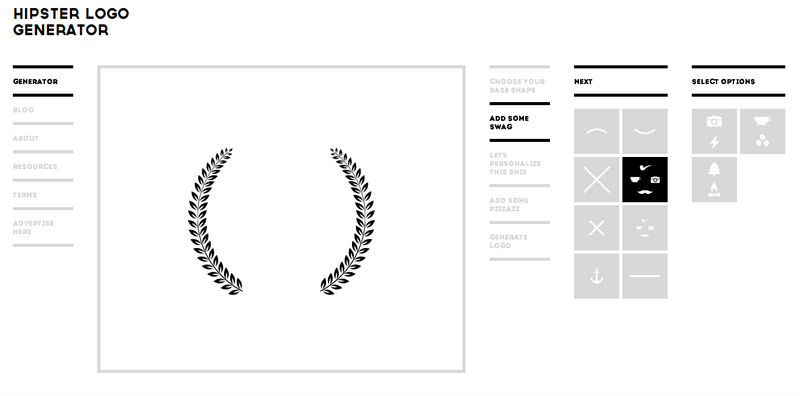 Collection of fresh design freebies march edition for Hipster logo generator