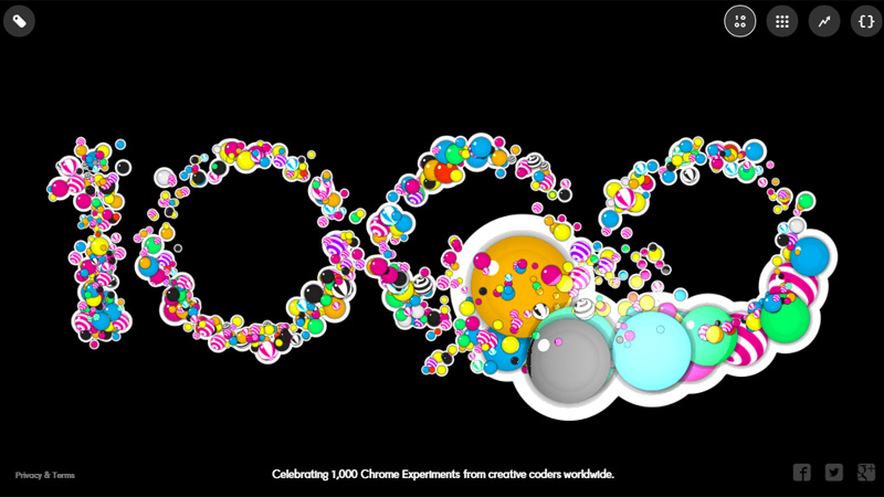 Celebrating 1000 Chrome Experiments