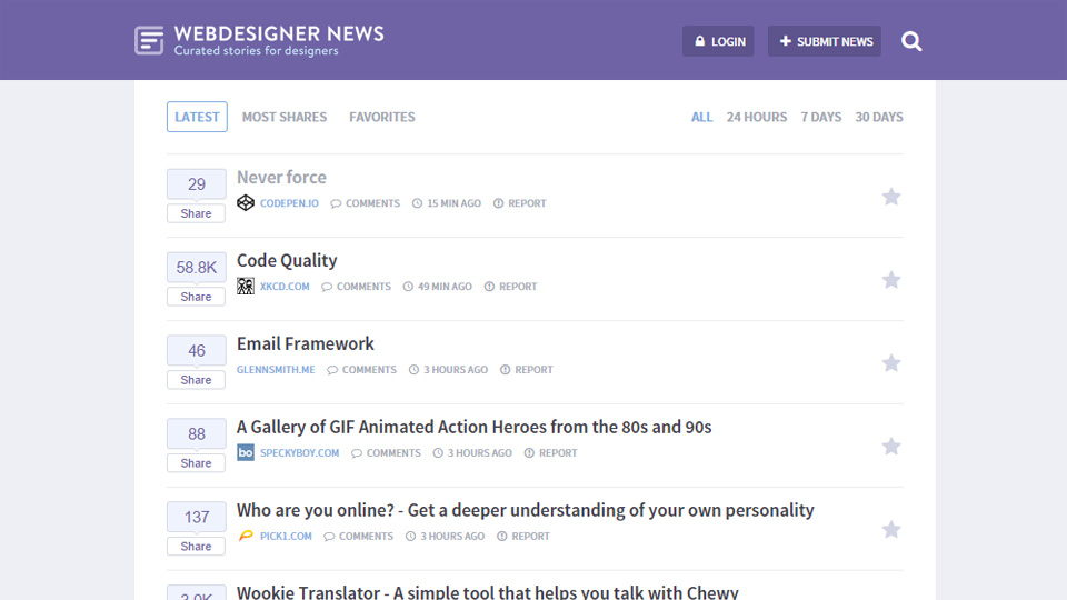 A Curation of the Best of Web Design News: Introducing Webdesigner News...