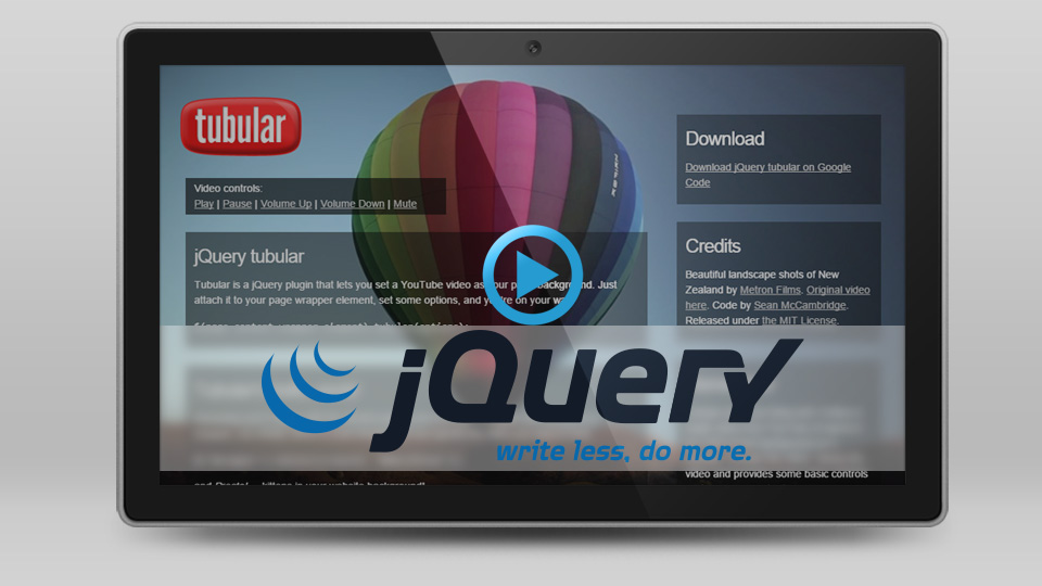 10 Of The Best Video jQuery Plugins