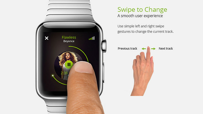 Spotify Pulse Apple Watch UI