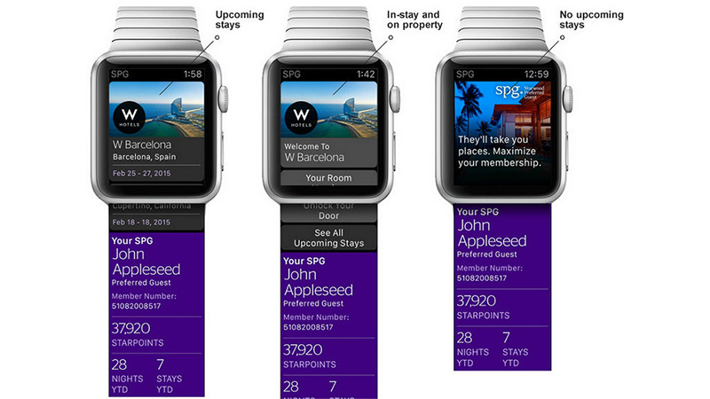 Starwood Preferred Guest App for Apple Watch