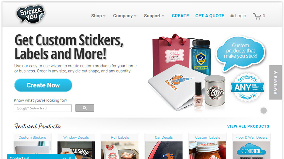 StickerYou Giveaway: $200 worth of Customized Stickers, Labels, Decals and More