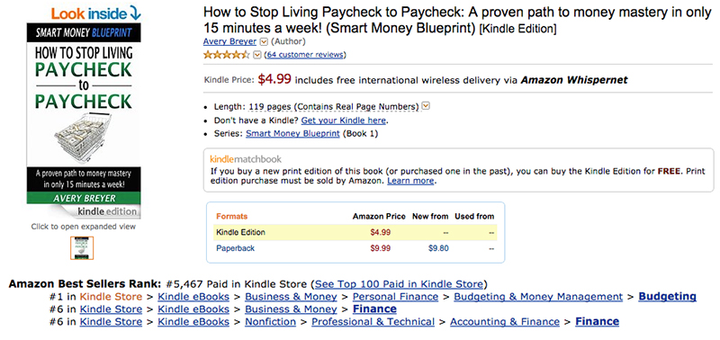 How to research your golden topic for your next ebook how to stop living paycheck to paycheck on amazon fandeluxe Images