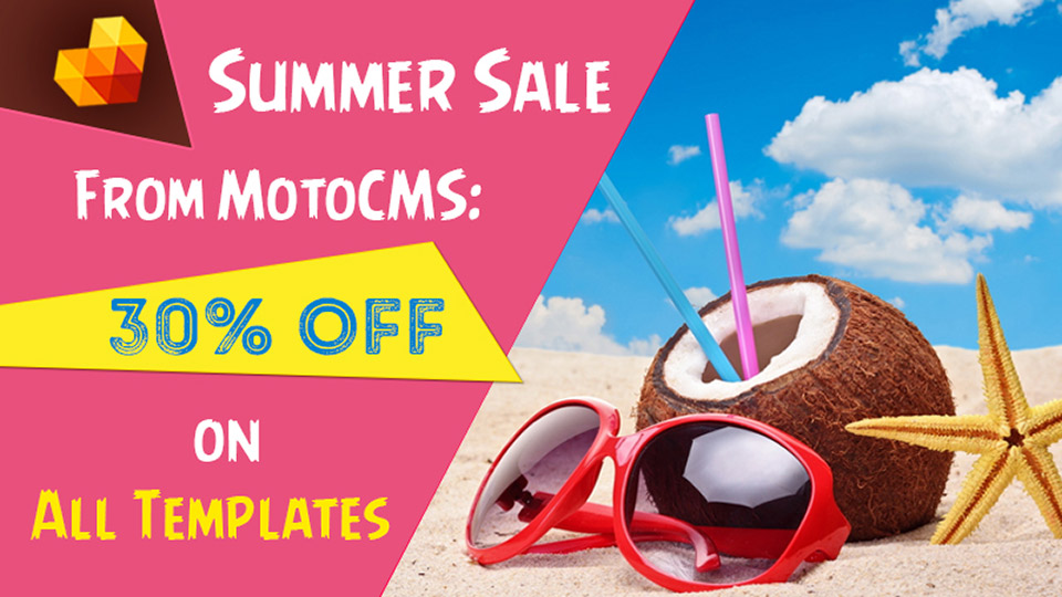 Summer Sale from MotoCMS: 30% Off on All Templates