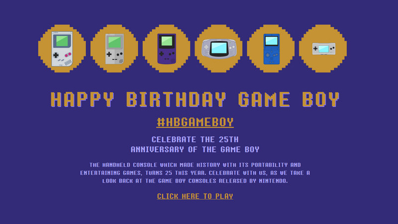 Game Boy Anniversary