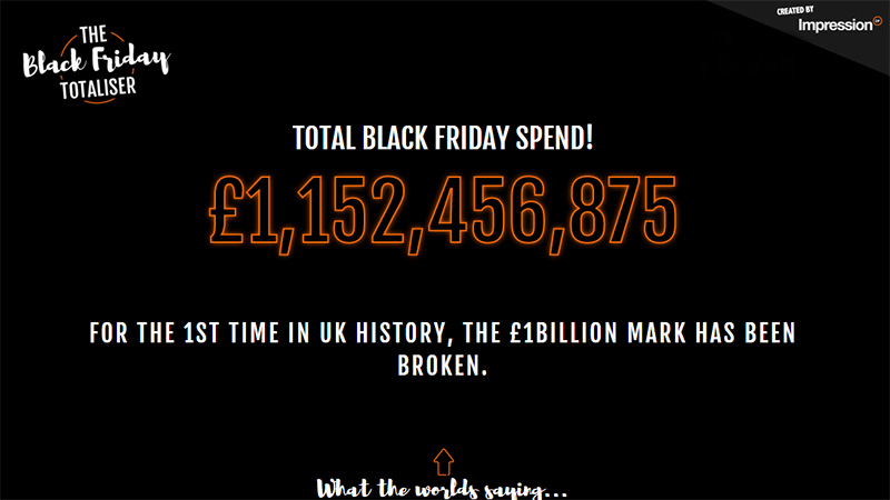 The Black Friday Totaliser