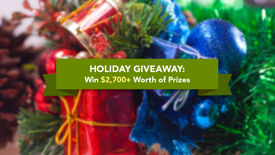 Christmas Giveaway: Win $2,700+ Worth of Web Design and Development Goodies