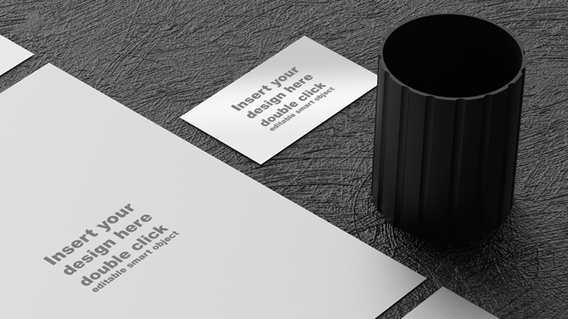 Black &  White Office Mockup