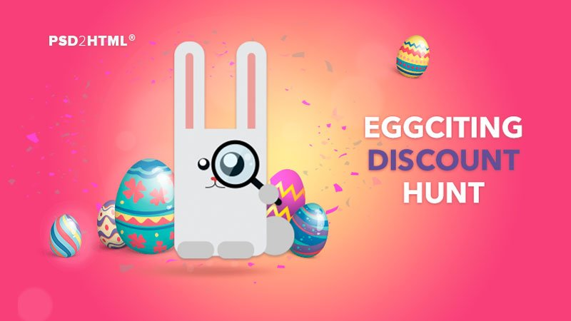 Win Big Discounts in the PSD2HTML.com Easter Egg Hunt!