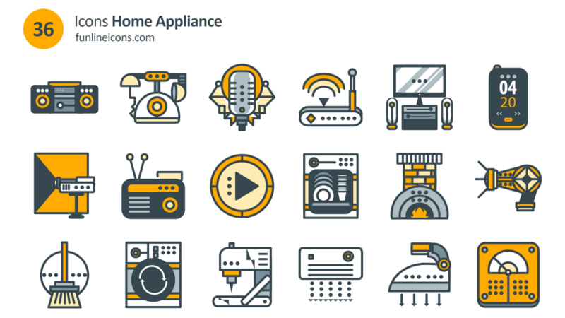 Home Appliance & Real Estate Icons