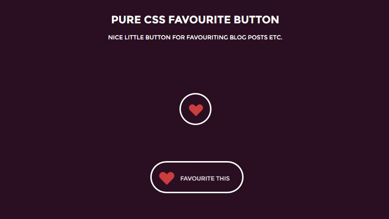 CSS Favourite Button
