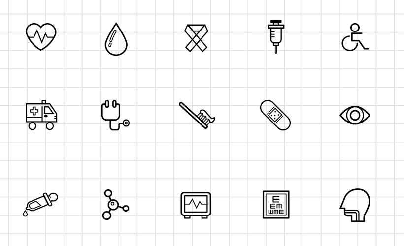 Medical & Science Outline Icon Set