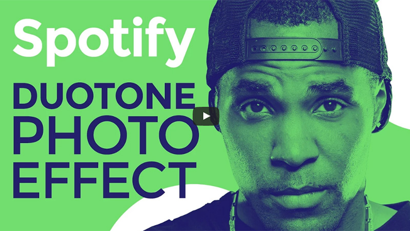 Spotify Style Duotone Photo Effect