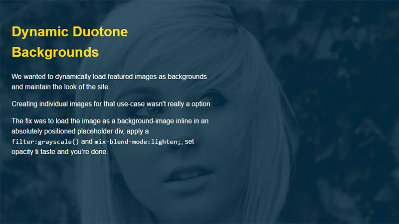 Dynamic Duotone Backgrounds